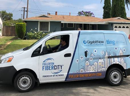 First Homes Connected to the USA's Largest Privately Funded Open Access FiberCity™